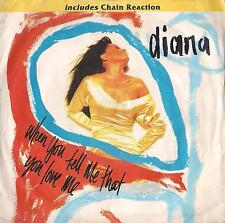DISCO 45 GIRI  DIANA ROSS -  WHEN YOU TELL ME THAT YOU LOVE ME // CHAIN REACTION