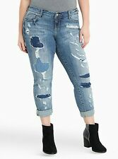 NWT Torrid Size 12 Regular Boyfriend Super Distressed Jeans (RRR13)