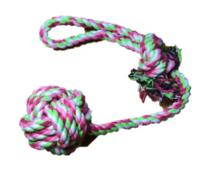 Zuce Paisley Paws Puppy Dog Strong Durable Rope Tug Toy