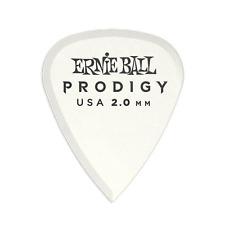 Genuine Ernie Ball 2.0 mm White Standard Prodigy Picks 6-Pack P09202
