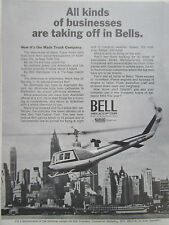 3/1972 PUB BELL HELICOPTER TWO-TWELVE TWIN MACK TRUCK ALLENTOWN NEW-YORK AD