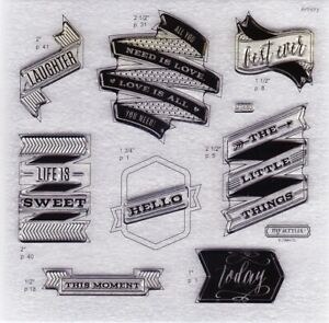 Close To My Heart – CTMH 'Life Is Sweet' Acrylic Stamp Set – D1680 new