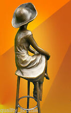 More details for  art deco, bronze at the bar signed d.h.chiparus statue figure hot cast figurine