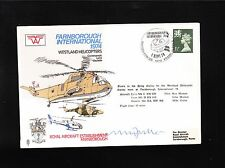 Great Britain Flown Cover Westland Helicopters Pilot Signed M Fuller & Insert (