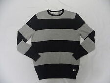 Quiksilver Stunning Dark Black & Gray Pullover Sweatshirt Sz Medium