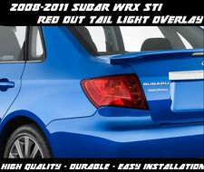 RED OUT Tail Light Tint Overlay Vinyl for 2008 2009 2010 2011 Subaru WRX STI