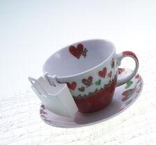koziol 2er Set Tassenutensilo Teebeutelhalter Lilli in solid weiß