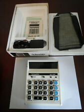 VINTAGE COLUMBIA ELECTRONIC CALCULATOR MD-12M WITH PAPERWORK WORKS GREAT