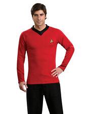 """STAR TREK Originale Scotty Rosso Uniforme Top Adulto Costume, Grande, circonferenza petto 42 - 44"""""""
