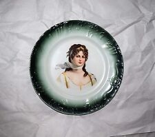"""Antique W D La Belle China Woman Figure Portrait Plate 10  1/4"""""""