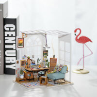 Rolife DIY Wooden Doll House Office with Furniture LED SOHO Time Toy for Girls