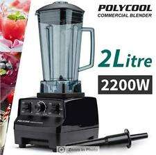 PolyCool 2200W Industrial Strength Motor Commercial Blender 2L - Black
