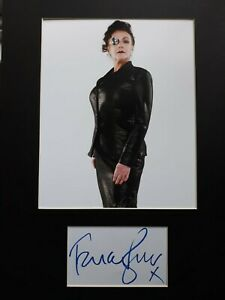 """FRANCES BARBER  AUTOGRAPH SIGNED CARD ( 10""""X8"""" PHOTO) *DOCTOR WHO * COA 55"""