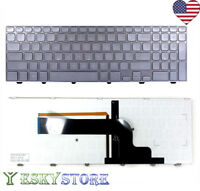 NEW KEYBOARD FOR DELL INSPIRON 15-7000 15-7537 NSK-LG0LN-A00 BACKLIT US SLIVER