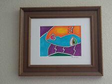 """""""NATALIE   """" tableau peinture acrylique encadré"""