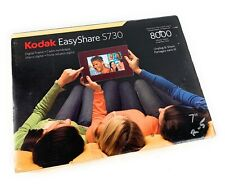 "Kodak Easyshare S730 7"" Digital Picture Photo Frame. Burgandy face w silver trim"