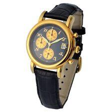"WMC Damen Cronograph ""Millennium"" Lederarmband Tachymeter UVP 599€ Modell 2080"