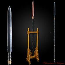 Wu Jin Spear Pike Lance Sword Rotary Forging Pattern Steel Blade Sharp 烏金槍 #1670