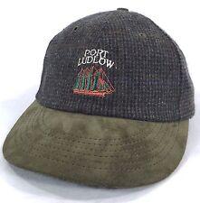Port Ludlow Washington Tweed Baseball Cap Made in USA Suede Brim Embroidered Hat