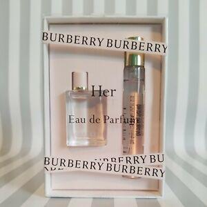 BURBERRY Mini Her Eau de Parfum Set - 5 ml & 7.5 ml Sealed