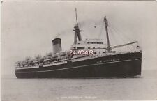 "Shaw Savill Line Real Photo. ""New Australia"" ex: ""Monarch of Bermuda"" 1950"
