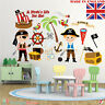 Pirate Kids Playroom Wall Stickers Ship Decor Children Bedroom Boys Girls Baby