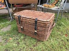 Vintage Large Wicker chest storage trunk toy Linen box