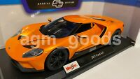 Maisto 1:18 Scale - 2017 Ford GT - Orange - Diecast Model Car