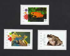 FROGS, Set of 3 Picture Postage MNH stamps Canada 2015 [p15/8fg3]
