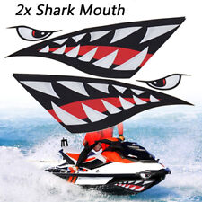 2x Car Boat Kayak Shark Teeth Mouth Eyes Vinyl Waterproof Decal Funny Stickers