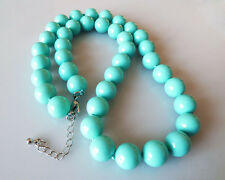Beautiful 10mm Blue South Sea Shell Pearl Round Beads Necklace 18""