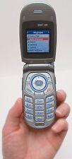LG VX3400 Blue Verizon CDMA Flip Cell Phone Clamshell Voice Dialing GPS Retro C