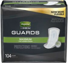 Depend Guards Adult Men Maximum Absorbency Incontinence Pads 104 Depends pad ct