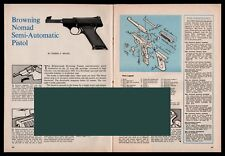 1963 Browning Nomad Semi-Auto Pistol Exploded View.Parts List.Assembly Article