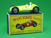 Matchbox Lesney No.52a Maserati 4CLT In Type 'D2' Series Box (RARE No.5 DECAL)