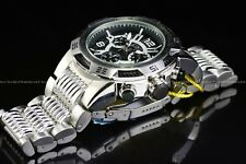 Invicta Mens 51mm Speedway Viper Chronograph Silver Black Swiss Bracelet Watch