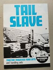 Mc Connel Tail Slave .. Tractor Mounted Fork Lifts and Lifting aids 8pg 1960's?