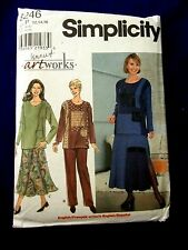 UNCUT SIMPLICITY# 8246 WOMEN SZ 12-14-16 ART WORKS  WARDROBE  SEWING PATTERN