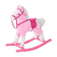 HOMCOM Kids Plush Rocking Horse Riding Sound Pony Children Toy Gift Pink