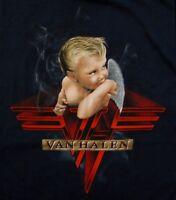 VAN HALEN cd cvr 1984 BABY SMOKING Official BLUE SHIRT MED new
