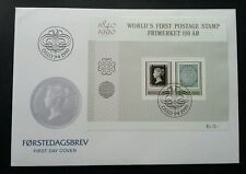 Norway Penny Black First Postage Stamp 1990 (miniature FDC)