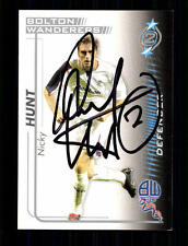 Nicky Hunt Bolton Wanderers SB 2005-06 Orig. Sign.