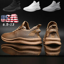 US Men's Athletic Sports Trainers Lace Up Casual Shoes Mesh Gym Running Tennis