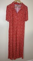 BWNT ASOS Maternity Red Collar Maxi Floral Summer Dress Uk 18