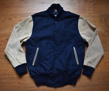 Soulland x House Of Billiam – Varsity Jacket - Navy Wool / Beige Suede Leather