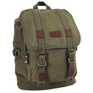 PureTrash® Retro Vintage Outdoor Canvas Backpack Bag 35L - OD Green - Brand New