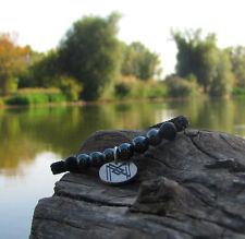 Shambala Natural Gemstone Hematite & Shungite Bracelet & Sterling Silver Pendant