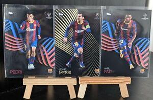 Topps UCL Knockout 2020/21 Barcelona Messi Ansu Fati & Pedri Rookie