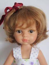 """perruque COURTE blond vénitien poupée moderne Paola Reina-Tête 21/22cm (8/9"""")"""