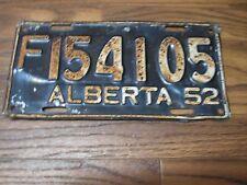 1952 Alberta 64 Year Old  Farm Truck License Plate  F 154105